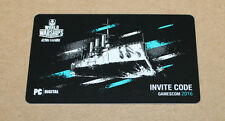 Gamescom 2016 Wargaming World of Warships PC Invite Code