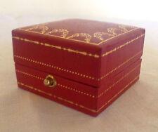 VINTAGE BOITE ECRIN Ring Box POUR BAGUE CARTIER BIJOUX