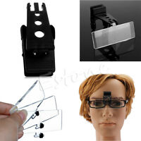 Folding Eyeglass Flip Clip On Magnifying Loupe Glass Precise Handsfree Magnifier