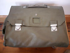 Vintage SWISS Military Army Vinyl Waterproof Document Case Travel Bag Tri-Fold