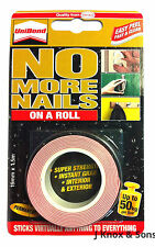 No More  Nails On a Roll Tape Interior/Exterior 19mm x 1.5m Holds up to 120kg