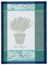 Garnier Thiebaut Thyme French Herb Fine Cotton Woven Tea/Dish/Kitchen Towel Gift