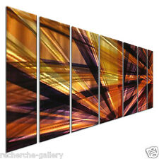 Metal Wall Decor Contemporary Artwork Abstract Painting Modern Art Ash Carl