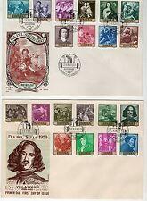 ESPAÑA  1959/60 SOBRES PRIMER DIA EDIFIL  1238/47 y 1270/9 FDC SPAIN  PERFEC