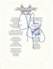 JOURNEY JONATHAN CAIN SIGNED DONT STOP BELIEVIN  LYRIC SHEET