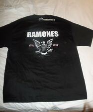 RAMONES vintage 30th anniversary T-SHIRT size XL New old stock with Tags