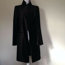 Ann DEMEULEMEESTER Gorgeous VINTAGE   Long Black Coat size 40 / S-M