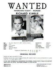 The Fugitive TV Series, Wanted Poster, David Jansen, Very Detailed