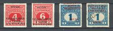 YUGOSLAVIA SHS BOSNIA AND HERZ. 1918 - PORTO INVERTED overprints NOT perforated