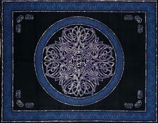 Handmade Cotton Celtic Circle Wheel Of Life Tapestry Spread Twin Purple Black