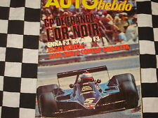 auto hebdo n°121 1978 / GRAND PRIX FRANCE + F3 + PRODUCTION / ALFASUD Ti 1,5
