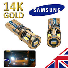 VW Polo 6R 09-on Super Brillante Oro 14K Bombillas LED Samsung 501 Lado CANBUS