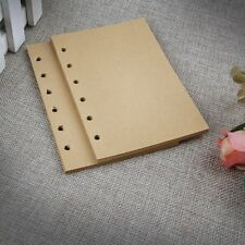 NEW 85 Sheets Blank Lined 6 Holes Craft Paper Pad Refills Inserts For Notebook
