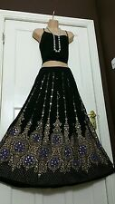 Ladies Indian Boho Hippie Gypsy Long Sequin Skirt Rayon Gold, Black &Lilac inset