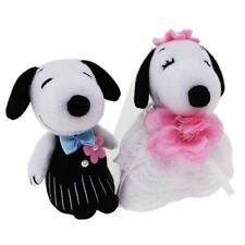 SNOOPY & BELLE Wedding Dolls Plush 3.15 inch from Japan F/S