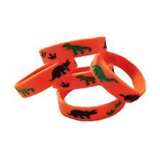 12 Dinosaur Party Favor Wristbands - Youth Size