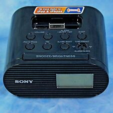 Sony FM Clock Radio for iPod iPhone Old School Charging Dock ICF-C05iP Tested