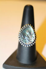 Wicca Blessed Ring Love Luck and Friendship  Sterling Silver Overlay Size 8