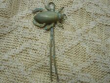 Vintage Antique Hair Pin Decorative Brass Tone Scarab Beetle Bug Hair Fork Metal