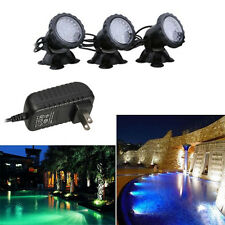 3Pcs LED Super Bright Outdoor Garden Underwater Pond Fountain Spot Light Kits