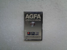 Vintage Audio Cassette AGFA Stereochrom 60+6 * Rare From 1980 * Unsealed