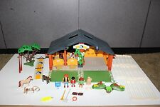Playmobil 3120 Horse Stable w horses, figures, fence NOT Complete
