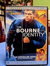 Matt Damon DVD The BOURNE IDENTITY (2002) Widescreen Collector's Edition w/6 SPE