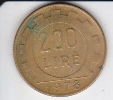 PIECE 200 LIRE 1978. ITALIE  TRES BON ETAT