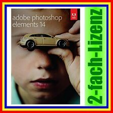 Adobe Photoshop Elements 14 VOLLVERSION DEUTSCH NEU DVD inkl. Zweitnutzungsrecht