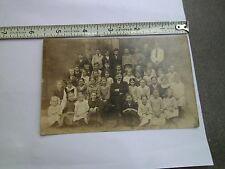 """Antique Photo Postcard School Picture Signed """"Alfreds Girl"""""""