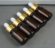 10ml Amber Glass Bottles for Essential Oils with Glass Eye Dropper - Pack of 5