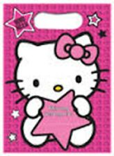 Hello Kitty Star Party - 8 Plastic Loot Bags - Birthday - FREE POST IN UK