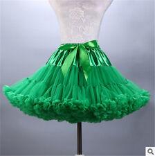 Girls Short Tulle Petticoat Tutu Ballet Prom Skirt Pettiskirt Bowknot Underskirt