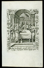 santino incisione 1600 SS.ANNA E GIOACCHINO AL TEMPIO collaert