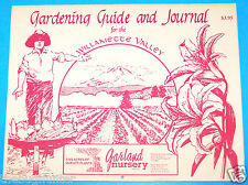 "1990 ""GARDENING GUIDE & JOURNAL FOR THE WILLAMETTE VALLEY"" IN CALENDAR FORM - VG"