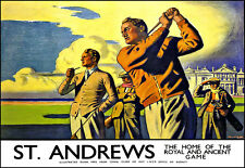St Andrews Golf Home of the Royal and Ancient Game LNER Train Rail Travel Poster