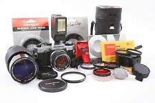 Olympus OM-G 35mm Film SLR Camera STUDENT Kit w/ 50mm f/1.4 Lens + MORE