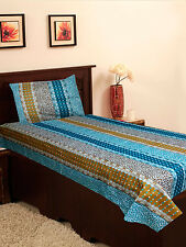 Homefab India Cotton Single Bed-Sheet with 1 Pillow Cover (Single153)