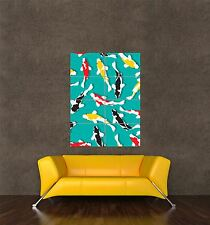 POSTER PRINT GIANT PAINTING GRAPHIC KOI CARP PATTERN DESIGN FISH PAMP126