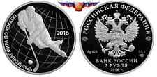 NEW Russia 3 rubles 2016 World Ice Hockey Championship Silver 1 oz PROOF