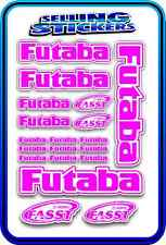 FUTABA SERVO RADIO RX TX 2.4G FLIGHT REMOTE CONTROL STICKERS FASST PINK W DRIFT