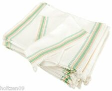 Set of 7 Aunt Martha Vintage Style Green Stripe Flour Sack Towels for Embroidery