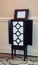 Beautiful Modern Hollywood Regency Wood Jewelry Armoire-Jewelry Box-Brand New