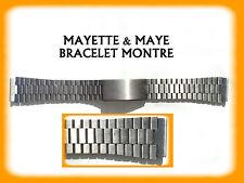 BRACELET MONTRE ARGENTÉ ACIER INOXYDABLE 18mm  REF.A455