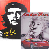 2 X CANVAS ART PICTURE FRAME PRINTED POSTER MARILYN MONROE GRAPHICS GUEVARA XMAS