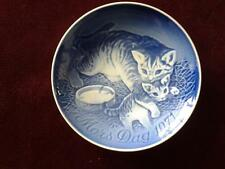 BING & GRONDAHL MORS DAG 1971 PLATE MOTHERS DAY CAT & KITTEN