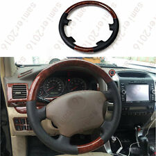 Wood Grain Color Steering Wheel Cover Trim For Toyota LC Prado FJ120 2003-2009