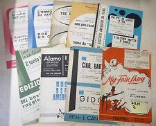 LOTTO N. 2 SPARTITI MUSICALI MUSICHE da FILM ANNI 1953 - 1979 - A10