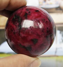 Hot Sell 50MM Natural Rose Red Jasper Sphere Magic Crystal Healing Ball+Stand #C