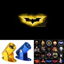 Motorcycle Laser Projector Shadow Spotlight 3D Yellow Batman Logo CREE LED Light